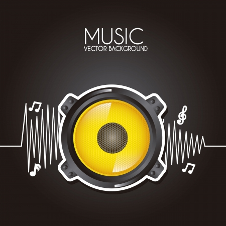 music design over black background vector illustration  Vector