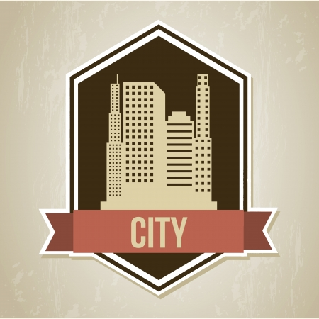 city design over beige background vector illustration  Stock Vector - 20252296