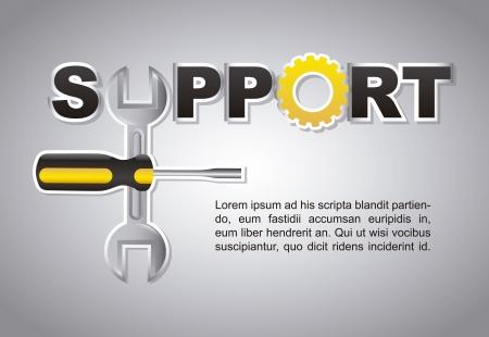 useful: support design over gray background vector illustration  Illustration