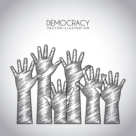 democracy design over gray background vector illustration