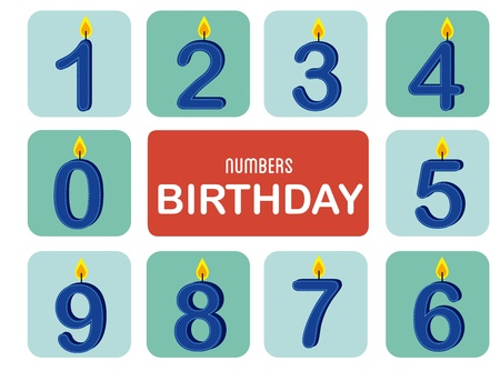 numbers birthday over white background vector illustration  Stock Vector - 20252263