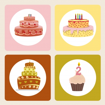 cake icons over gray background vector illustration Stock Vector - 20252247