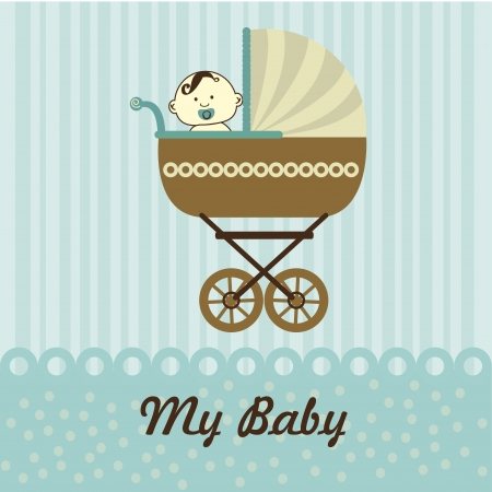my baby over blue background vector illustration