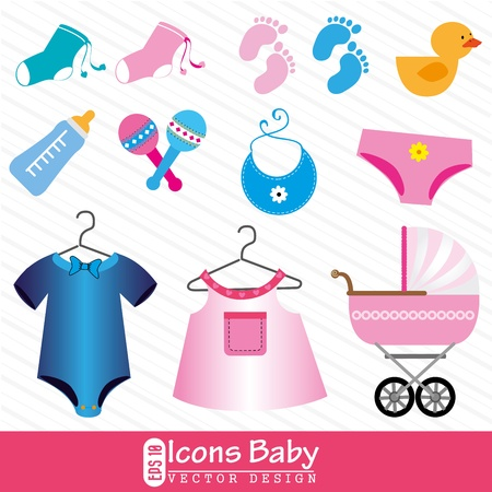 icons baby over white background vector illustration