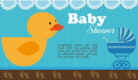showers: baby showers over blue background vector illustration
