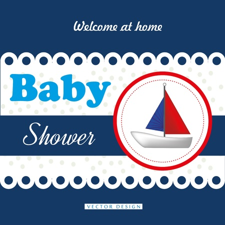 baby background: baby shower design over blue background vector illustration