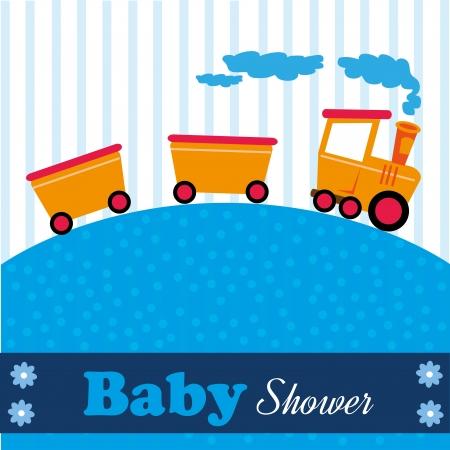 baby flower: baby showe design over blue lines background vector illustration