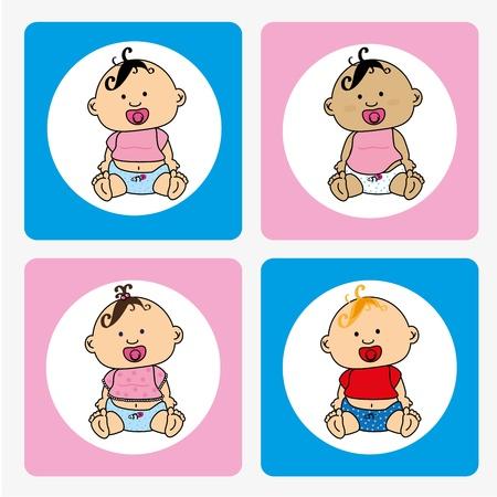 babys design over white background vector illustration