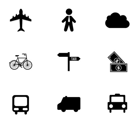 city icons over white background vector illustration Vector