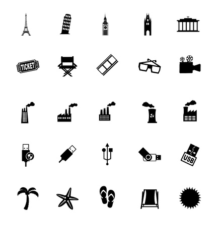 varied icons over white background vector illustration  Stock Vector - 20498719