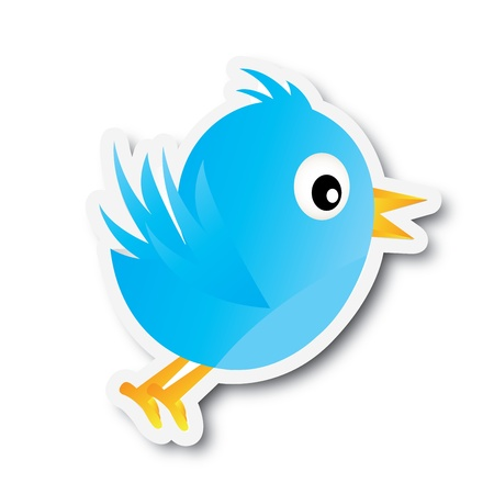 tweet: bird design over white background vector illustration  Illustration