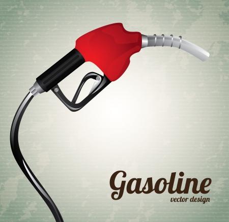 fuel: gasoline dispenser over vintage background vector illustration