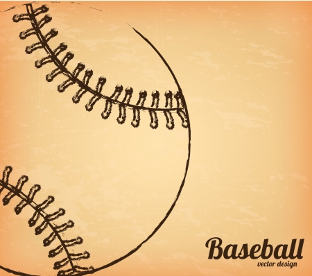 Baseball ball over vintage background vector illustration Vector