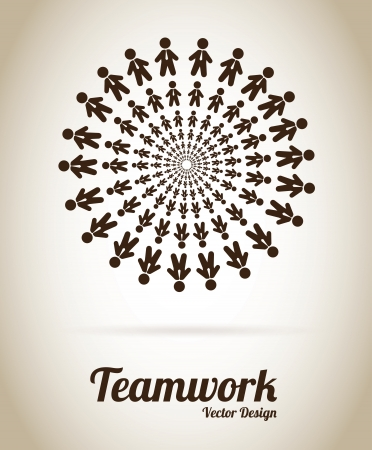 Teamwork design over gray background vector illustration  Vector