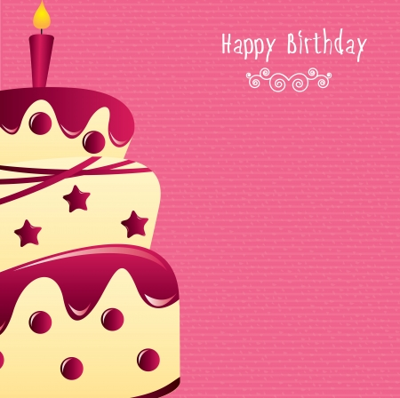 happy birthday design over pink background vector illustration  Stock Vector - 20498935