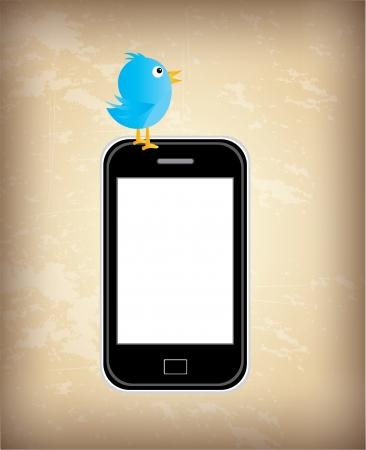 proposition: smartphone design over vintage background vector illustration