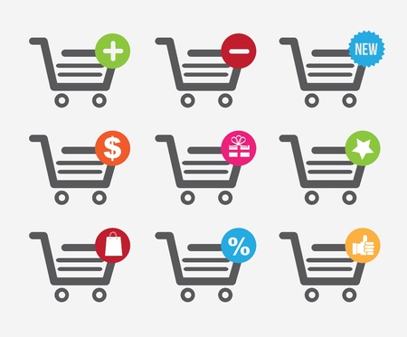 cart shopping design over white background vector illustration Vector