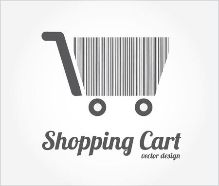 shopping cart design over white background vector illustration