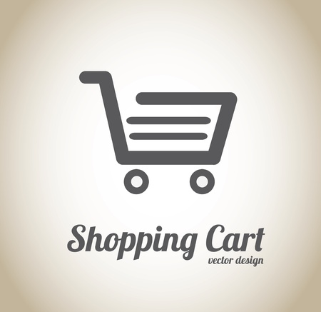 shopping cart design over beige background vector illustration Vector