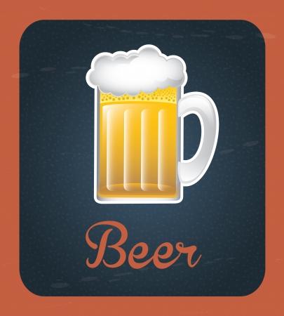 beer label over vintage background vector illustration Stock Vector - 20500504