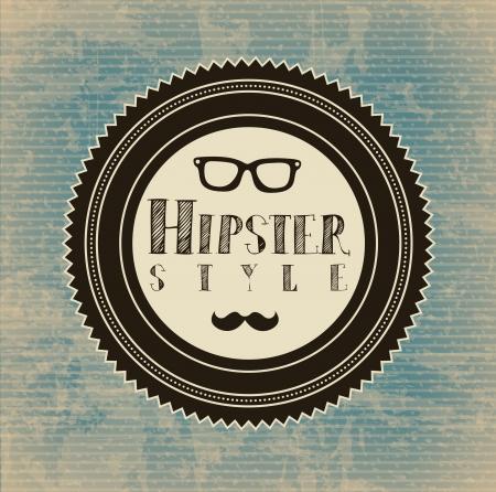 indie: etiqueta inconformista sobre fondo vintage