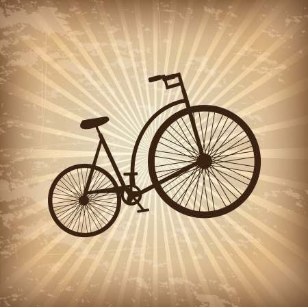 annoucement: Antique bicycle over vintage background vector illustration Illustration