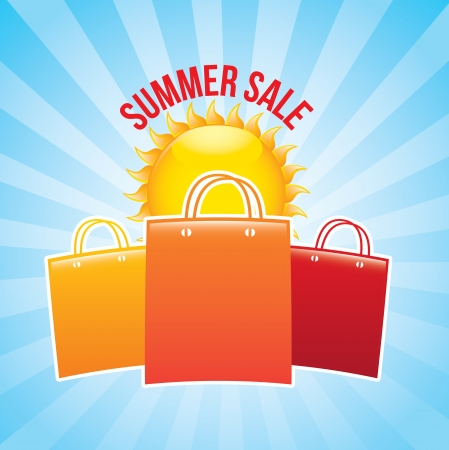 summer sale over blue background vector illustration  Vector