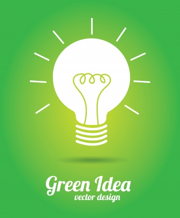 green idea design over green background vector illustration Stock Vector - 20499419