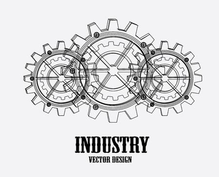 industrie ontwerp op een witte achtergrond vector illustratie