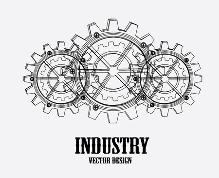 mechanical engineering: industry design over white background vector illustration