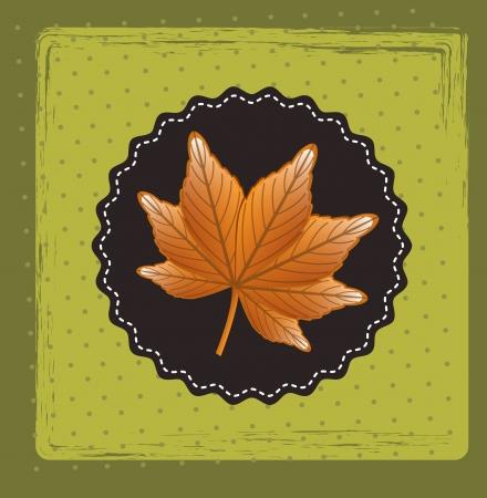 leaf design over green background vector illustration  Vector