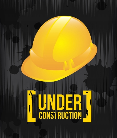 under construction design over black background vector illustration