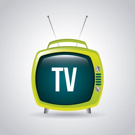 tv design over gray background vector illustration  Vector