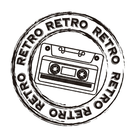cassette retro over white background vector illustration Vector