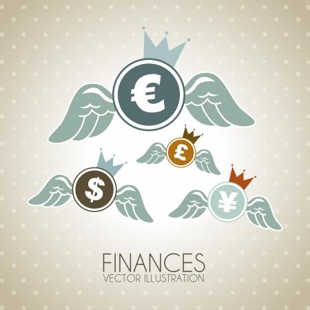 finance design  over dotted background vector illustration  Vector