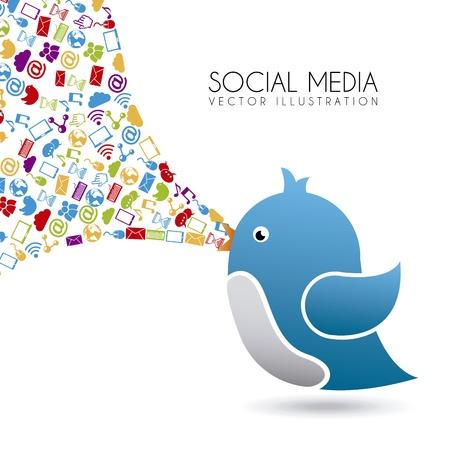 vector illustration: social ,edia design over white background vector illustration  Illustration
