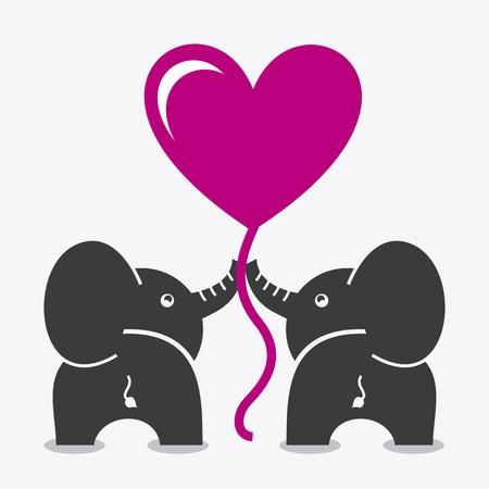 elephants design over white background vector illustration  Vector