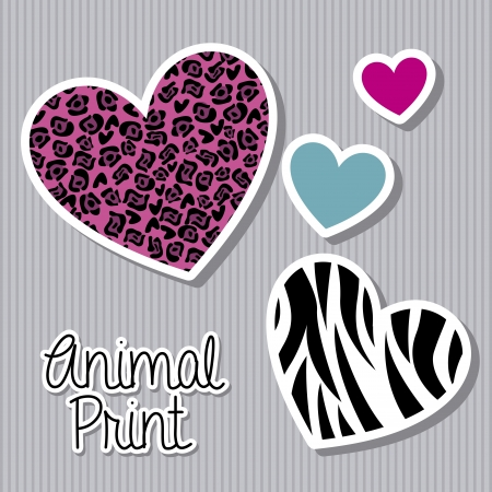 animal print over lineal background vector illustration  Vector