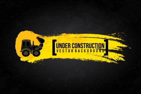 under construction design over black background vector illustration  Vector