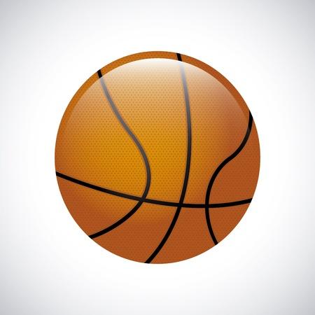 balon baloncesto: baloncesto sobre fondo gris ilustración vectorial