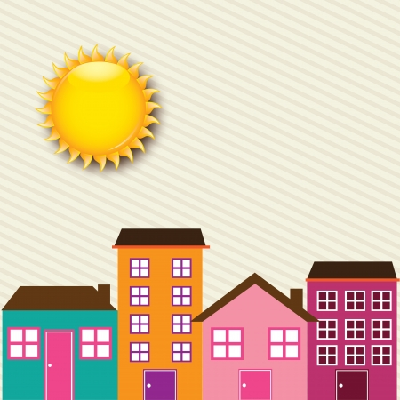 sunny day over beige background vector illustration  Vector
