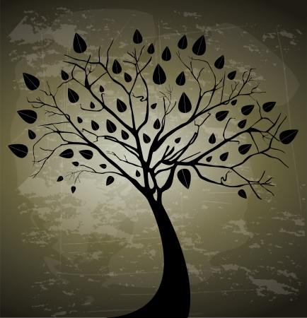 tree design over vintage background vector illustration  Vector