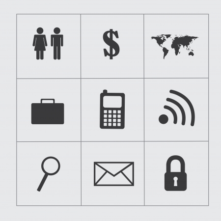 conection: business icons over gray background vector illustartion  Illustration