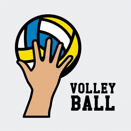 volleyball design over white background vector illustration  Vector