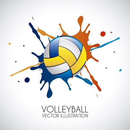 volleyball design over gray background vector illustration  向量圖像