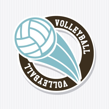 volleyball label over white background vector illustration  Vector