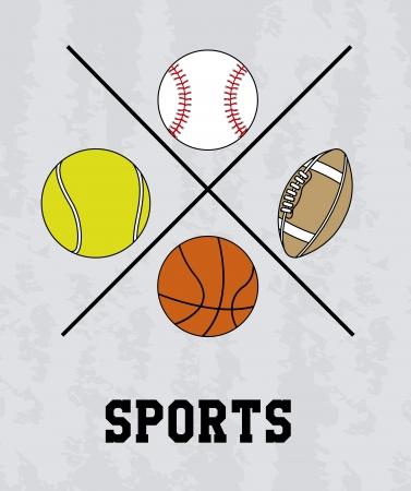 conception de sport sur fond gris illustration vectorielle