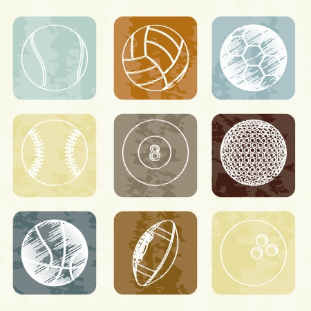sports balls over white background vector illustration  Vector