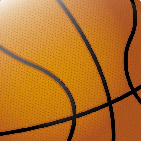basketball ball: basketball over orange background vector illustration