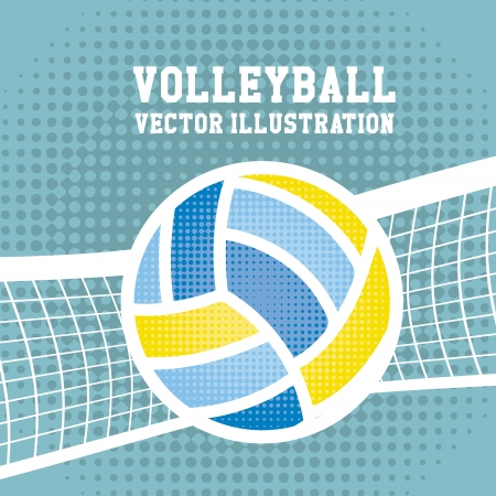 volleyball team: volleyball sport over dotted background vector illustration